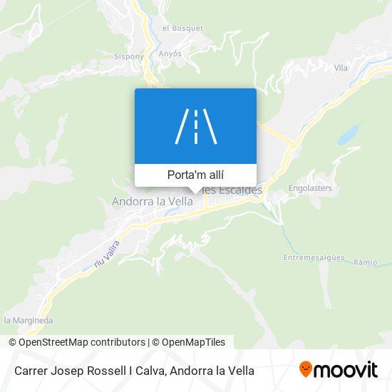 mapa Carrer Josep Rossell I Calva
