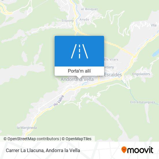 mapa Carrer La Llacuna