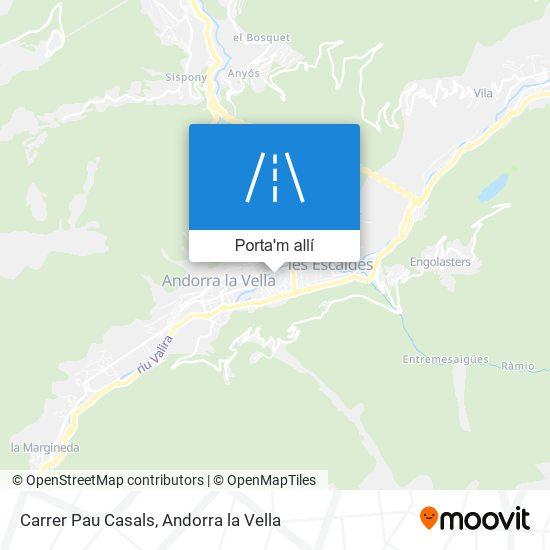 mapa Carrer Pau Casals