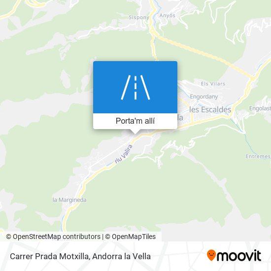 mapa Carrer Prada Motxilla