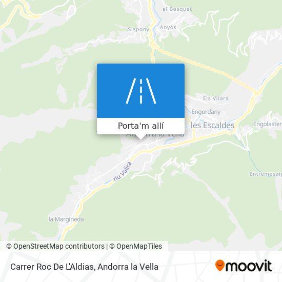 mapa Carrer Roc De L'Aldias