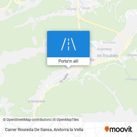 mapa Carrer Roureda De Sansa