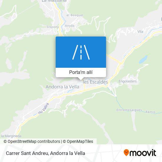 mapa Carrer Sant Andreu