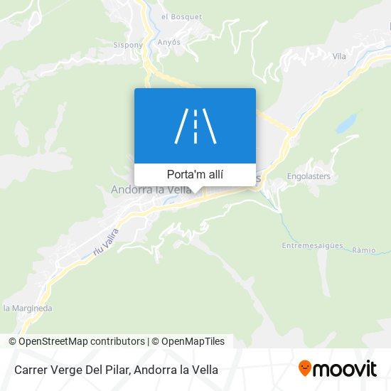 mapa Carrer Verge Del Pilar