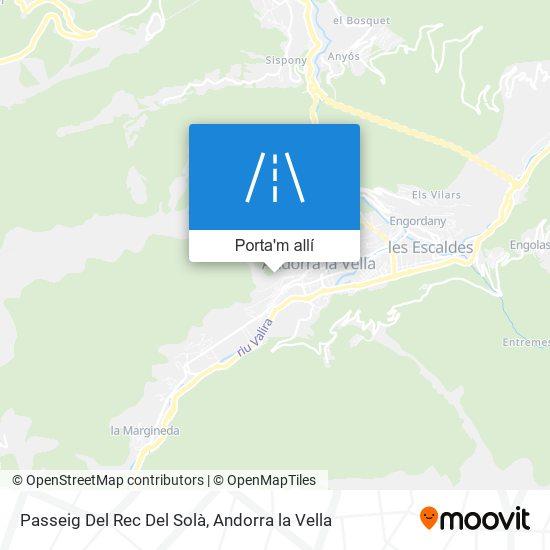mapa Passeig Del Rec Del Solà