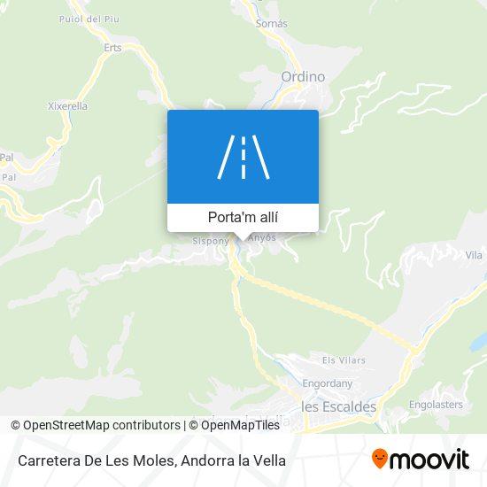 mapa Carretera De Les Moles