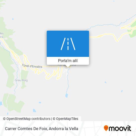 mapa Carrer Comtes De Foix