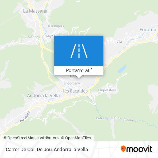 mapa Carrer De Coll De Jou