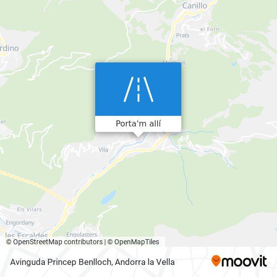 mapa Avinguda Princep Benlloch