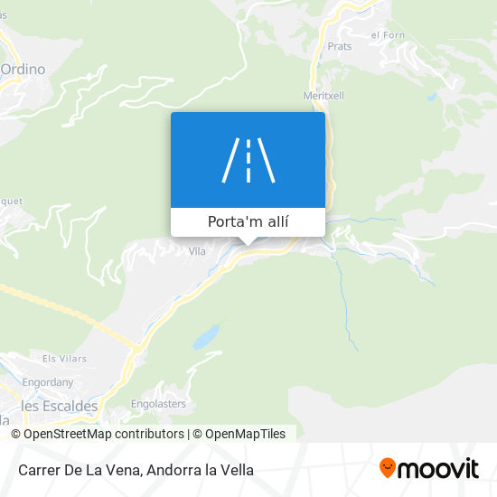 mapa Carrer De La Vena