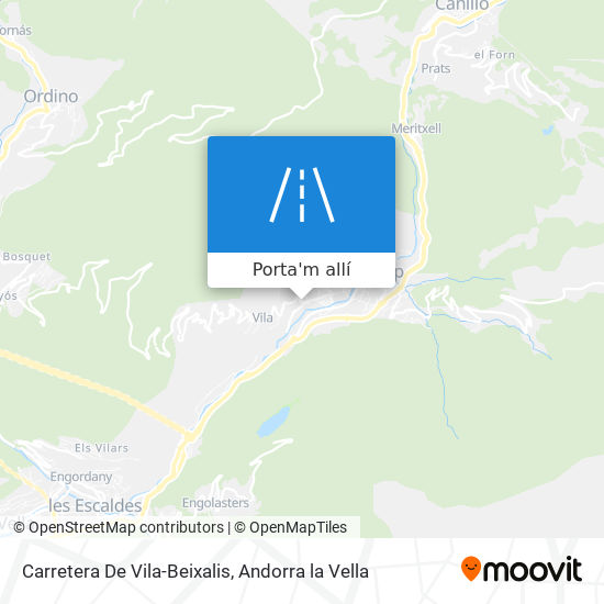 mapa Carretera De Vila-Beixalis