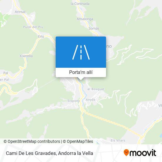 mapa Cami De Les Gravades