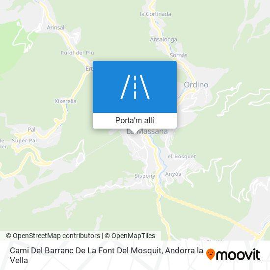 mapa Cami Del Barranc De La Font Del Mosquit