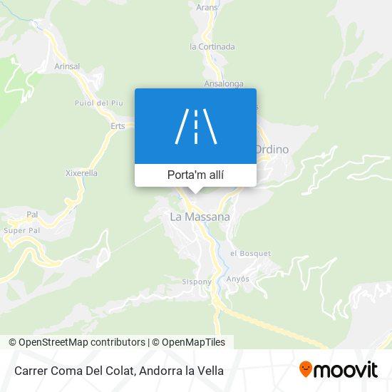 mapa Carrer Coma Del Colat