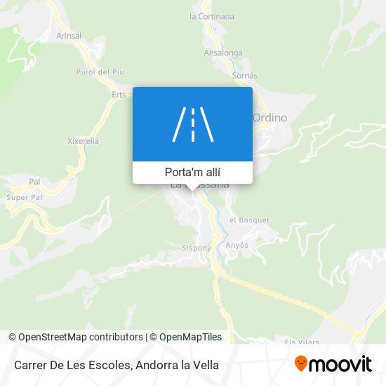 mapa Carrer De Les Escoles