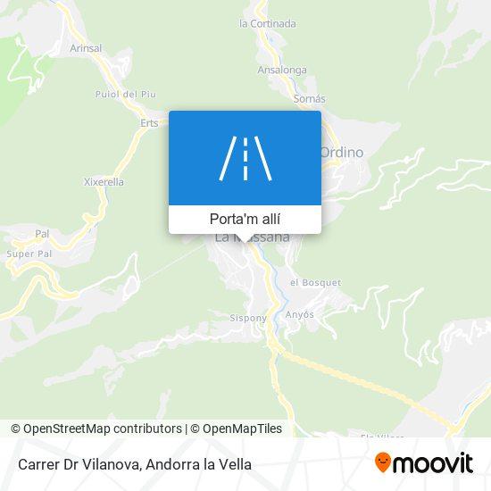 mapa Carrer Dr Vilanova
