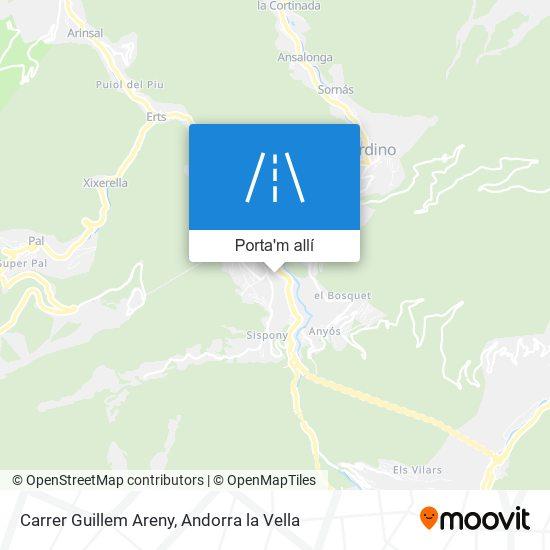 mapa Carrer Guillem Areny
