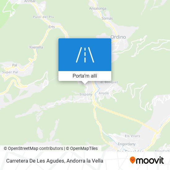 mapa Carretera De Les Agudes