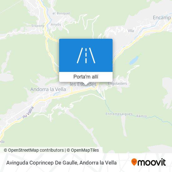 mapa Avinguda Coprincep De Gaulle