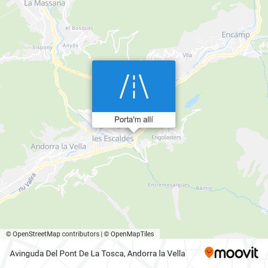 mapa Avinguda Del Pont De La Tosca