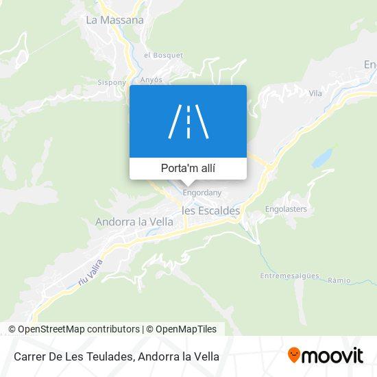 mapa Carrer De Les Teulades