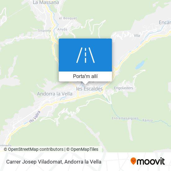 mapa Carrer Josep Viladomat
