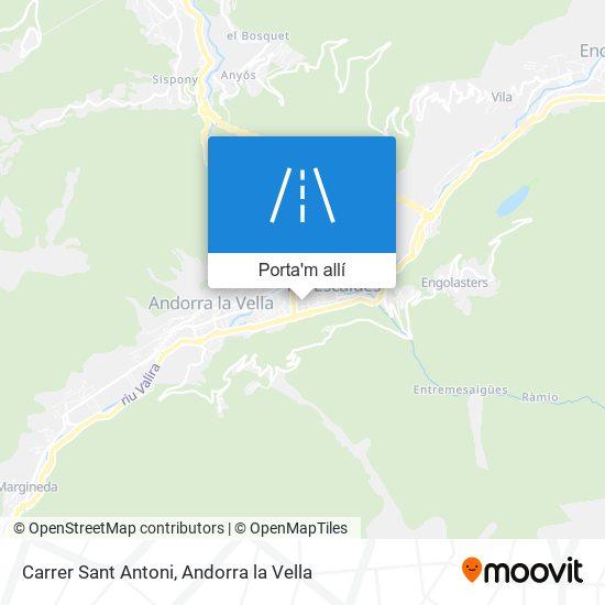 mapa Carrer Sant Antoni