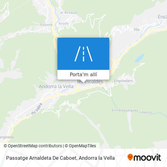 mapa Passatge Arnaldeta De Caboet