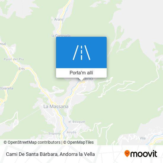 mapa Cami De Santa Bàrbara