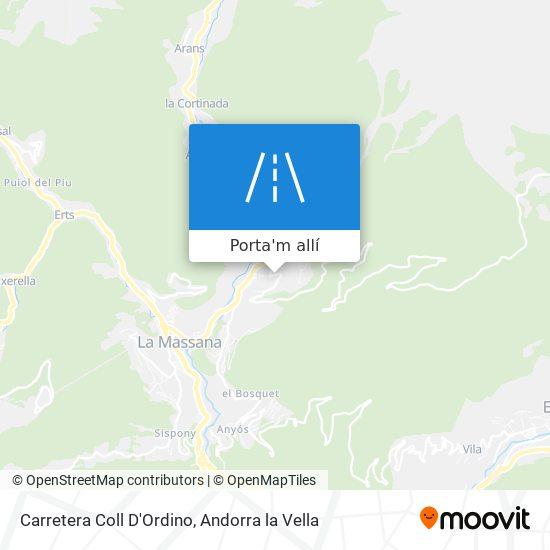 mapa Carretera Coll D'Ordino