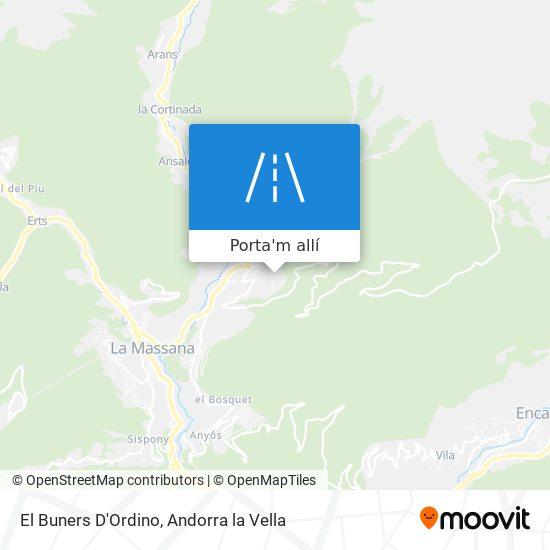 mapa El Buners D'Ordino