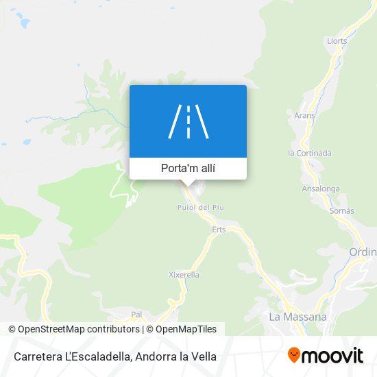 mapa Carretera L'Escaladella