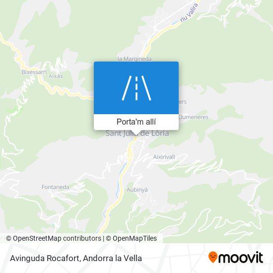 mapa Avinguda Rocafort
