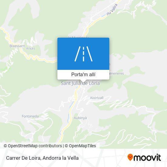 mapa Carrer De Loira