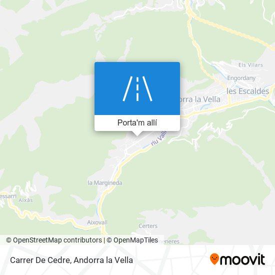 mapa Carrer De Cedre