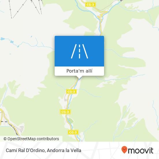 mapa Camí Ral D'Ordino