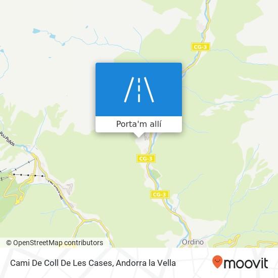 mapa Cami De Coll De Les Cases