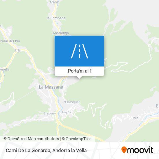 mapa Cami De La Gonarda