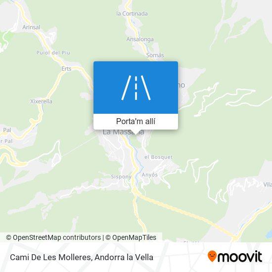 mapa Cami De Les Molleres
