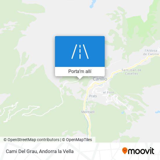 mapa Cami Del Grau