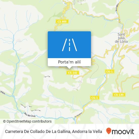 mapa Carretera De Collado De La Gallina