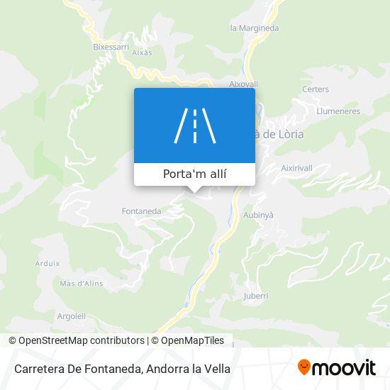 mapa Carretera De Fontaneda