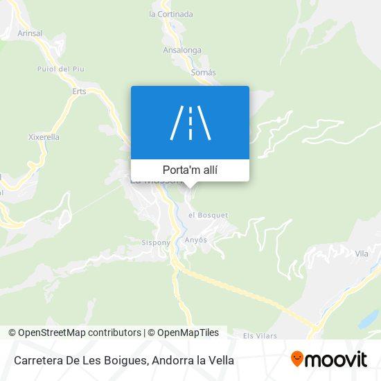 mapa Carretera De Les Boigues