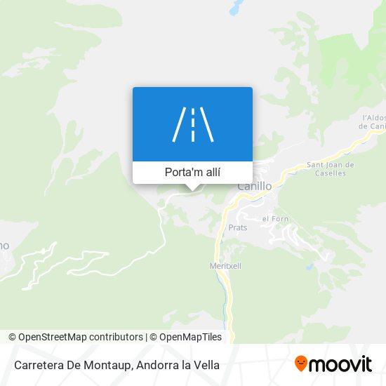 mapa Carretera De Montaup