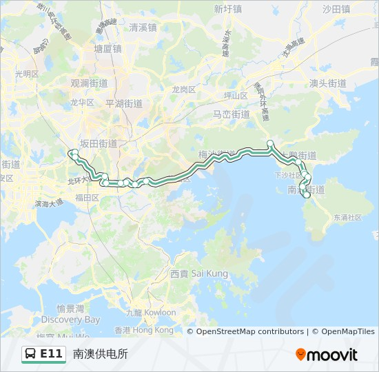 E11 Route Time Schedules Stops Amp Maps 深圳北站