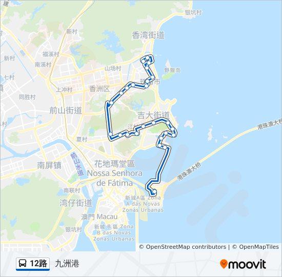 12路Route: Time Schedules, Stops & Maps - 九洲港 on singapore bus route map, jinan bus route map, lake charles bus route map, xian bus route map, san jose bus route map, osaka bus route map, palmdale bus route map, huangshan bus route map, stockholm bus route map, fuzhou bus route map, manila bus route map, abu dhabi bus route map, sydney bus route map, lima bus route map, kowloon bus route map, qingdao bus route map, london bus route map, guangzhou bus route map, hanoi bus route map, hefei bus route map,