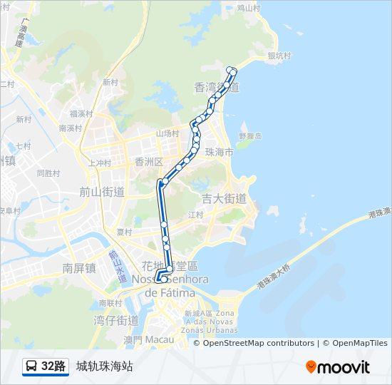 32路Route: Time Schedules, Stops & Maps - 城轨珠海站 on singapore bus route map, jinan bus route map, lake charles bus route map, xian bus route map, san jose bus route map, osaka bus route map, palmdale bus route map, huangshan bus route map, stockholm bus route map, fuzhou bus route map, manila bus route map, abu dhabi bus route map, sydney bus route map, lima bus route map, kowloon bus route map, qingdao bus route map, london bus route map, guangzhou bus route map, hanoi bus route map, hefei bus route map,