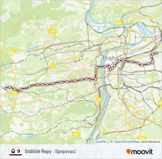 9 Cesta Jizdni Rady Zastavky A Mapy Vozovna Zizkov
