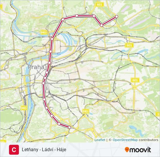 Metro Praha Mapa Metra A Tramvaji Metro Praha