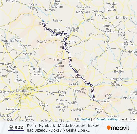 R22 Cesta Jizdni Rady Zastavky A Mapy Novy Bor